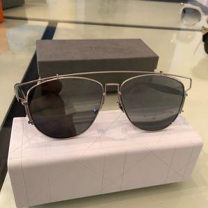 Dior Silver Mirror Glasses